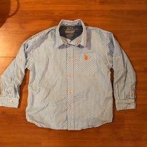 Long sleeved button up US Polo Assn size 7 boys